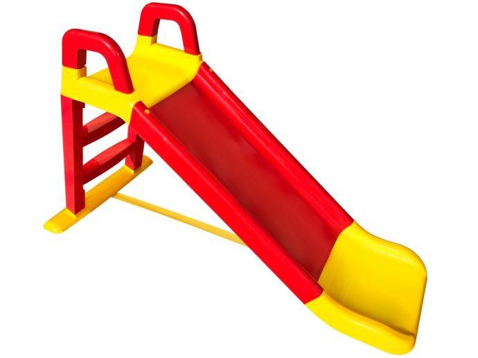 цветная горка для детей установлена вертикально для игр