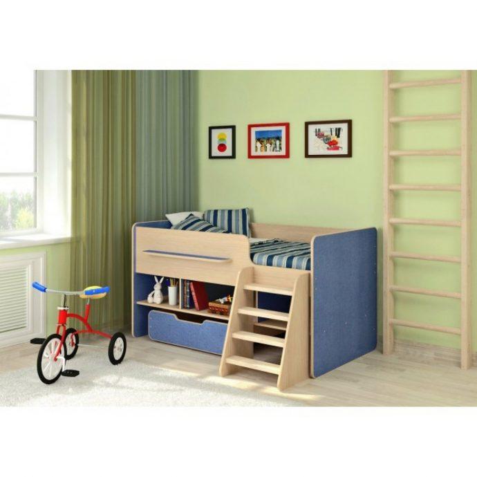 двухъярусная детская кроватка чердак в детскую фото дизайна