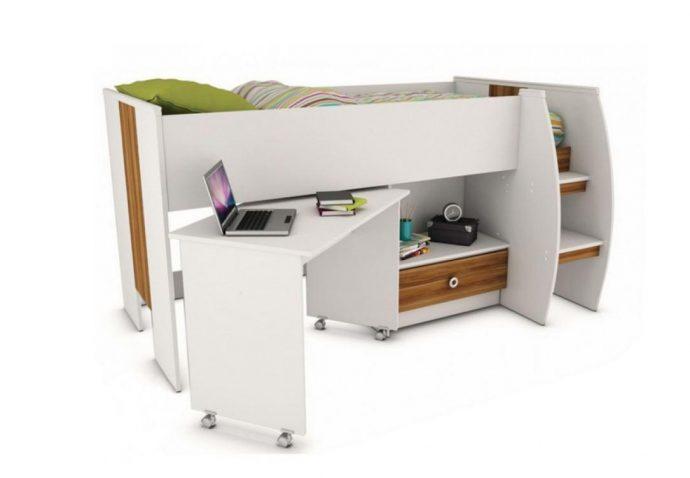 яркая кроватка с бортиками в дизайне комнаты конструкция