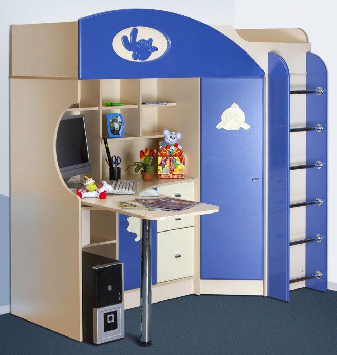 большая кровать детская чердак в детскую фото дизайна