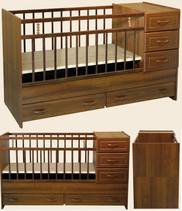 функциональная кроватка трансформер для малыша пример