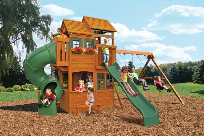 большая детская площадка сделал сам