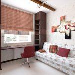 светлая спальня в дизайне лофт фото интерьера