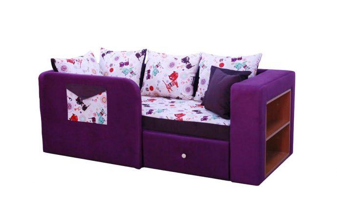 яркая диван кровать для детей в комнате фото пример