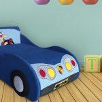 большая кровать диван для ребенка в спальне фото