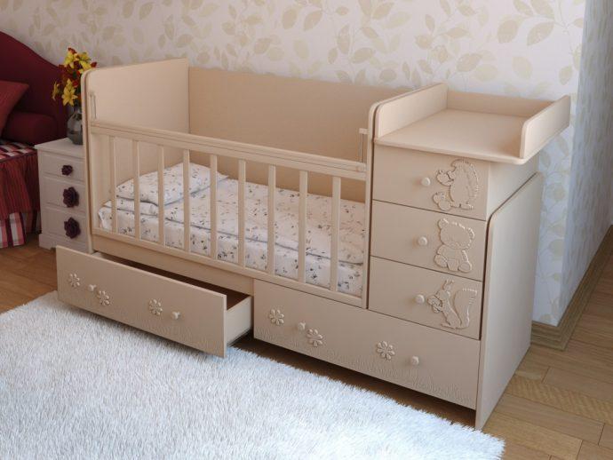 красивая кроватка трансформер для малыша