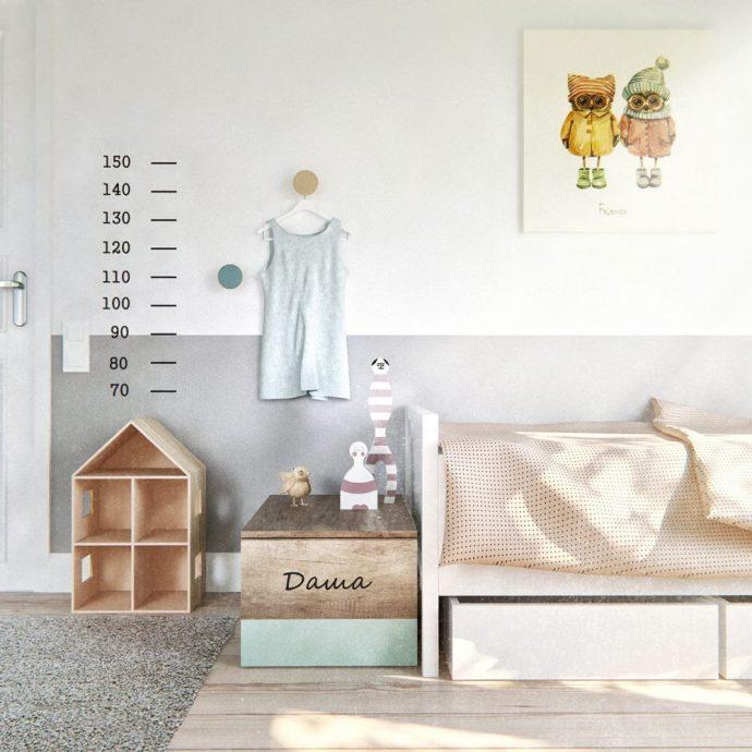 семейная комната в скандинавском дизайне