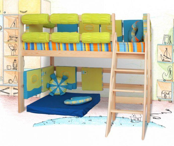 большая кровать чердак в детскую