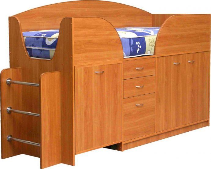 красивая кровать чердак в дизайне комнаты