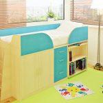большая детская кроватка чердак в дизайне комнаты фото дизайна