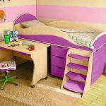 двухъярусная детская кровать чердак в детскую комнату пример