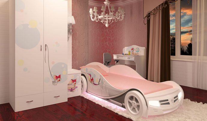 красивая диван кровать для ребенка в комнате