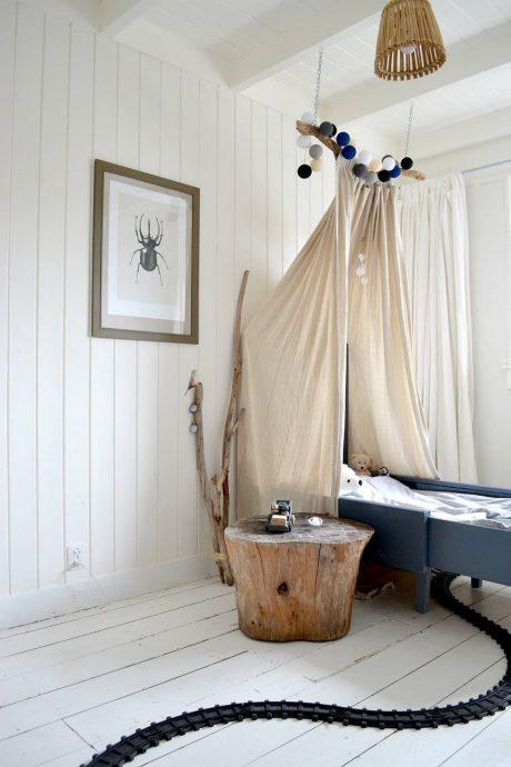 красивый балдахин на кроватку в интерьере