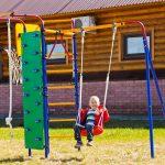 необычный детская площадка для детей из массива дерева