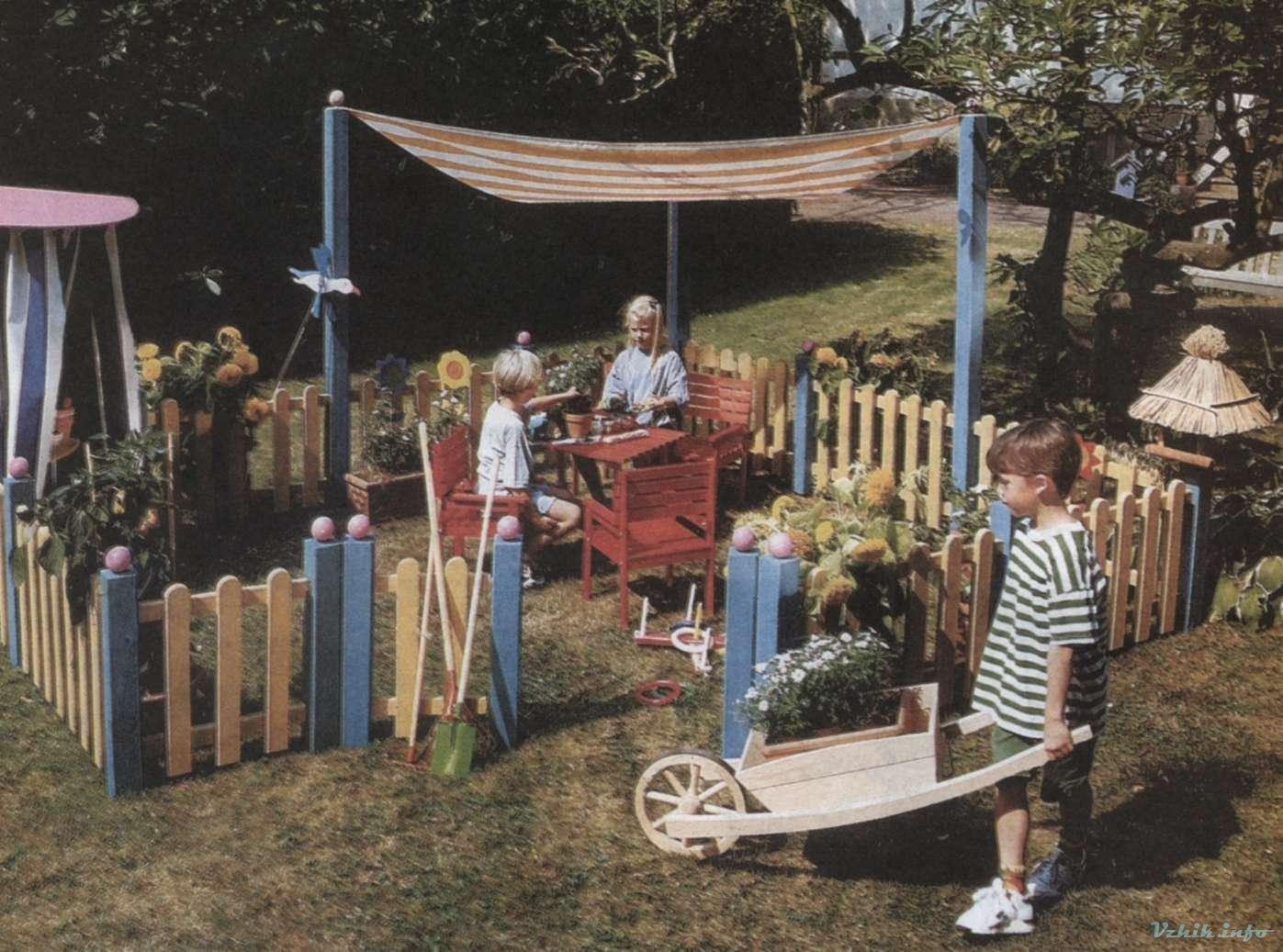 Детский уголок на даче делаем сами - Бабушкина дача