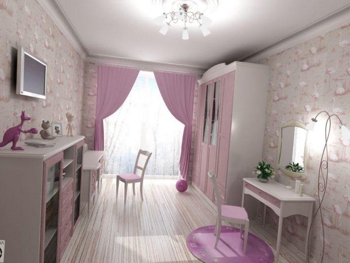 яркая детская спальня для девочек