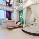 яркая спальня девочки дизайн