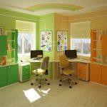 корпусная мебель для мальчика в комнату дизайн