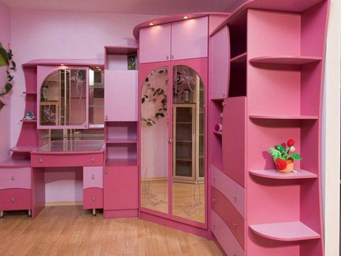 красивая детская мебель в детскую спальню для девочки