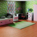яркая мебель в детскую спальню для девочки фото