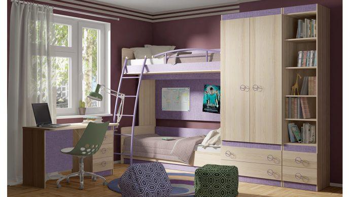 светлая мебель в детскую комнату для девочки