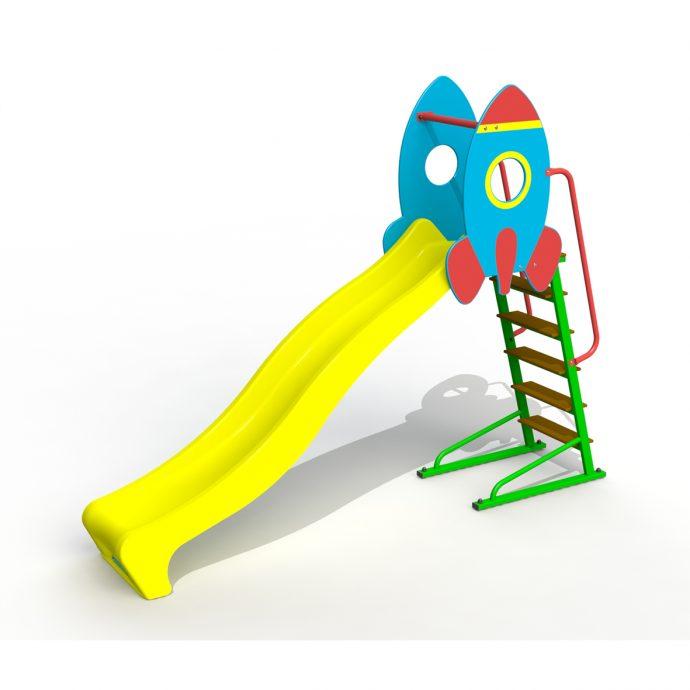 яркая детская горка для игр конструкция