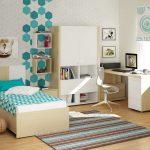 цветная мебель для мальчика в спальню пример фото
