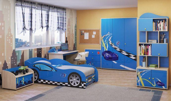 светлая мебель для мальчика в комнату