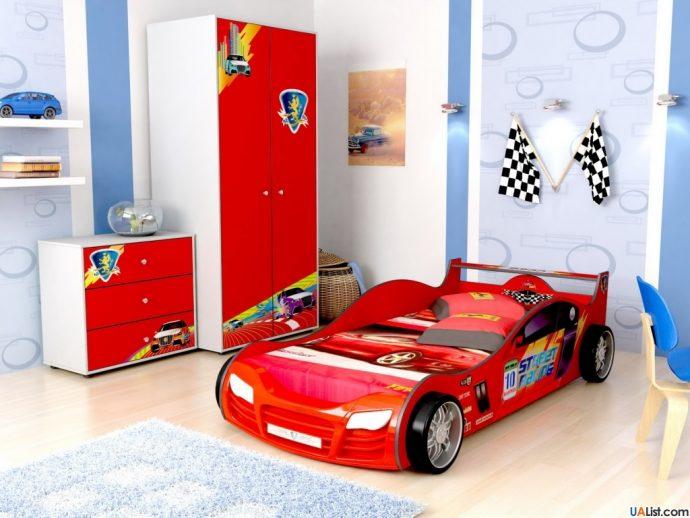 яркая детская мебель для мальчика в комнату дизайн