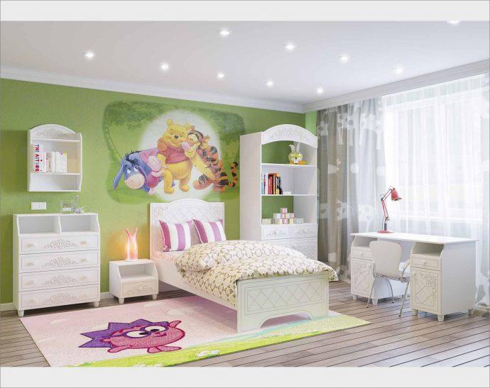 цветная детская мебель в детскую комнату для девочки пример