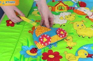 яркий развивающий детский коврик