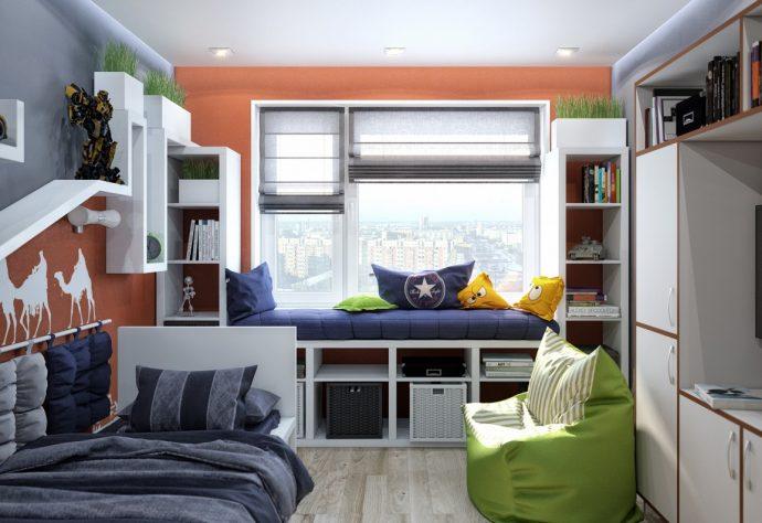 полосатые обои в детскую комнату стандартные дизайн