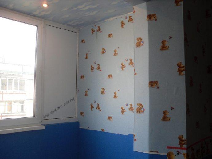 яркие обои в детскую комнату с рисунками интерьер