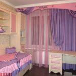 прозрачные шторы в спальню в интерьере фото