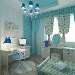 яркие шторы в спальню в интерьере фото