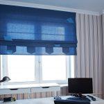 цветные шторы в детскую комнату для мальчика в интерьере картинка