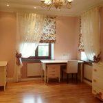 светлые шторы в детскую комнату в интерьере спальни дизайн