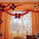 прозрачные шторы в спальню для мальчика в интерьере комнаты фото