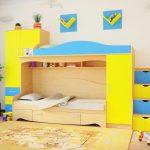 дизайн кроватки с полками