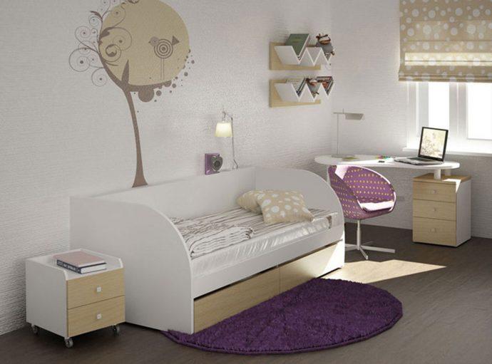 декор кроватки трансформера с полками