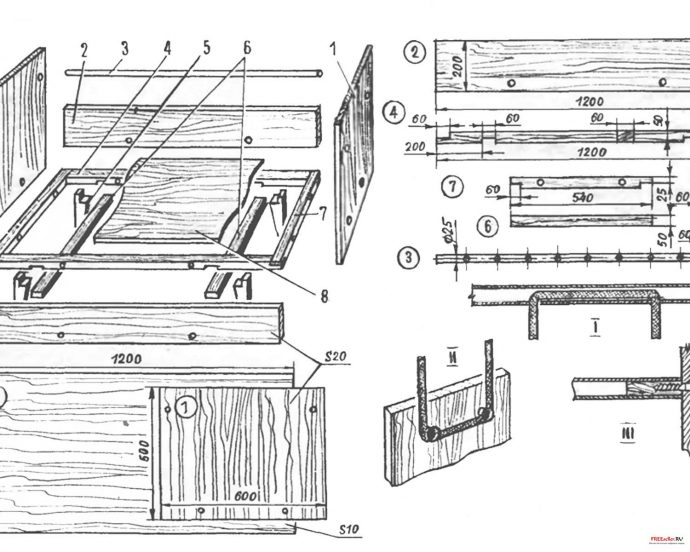 деревянная кровать сделанная своими руками в интерьере