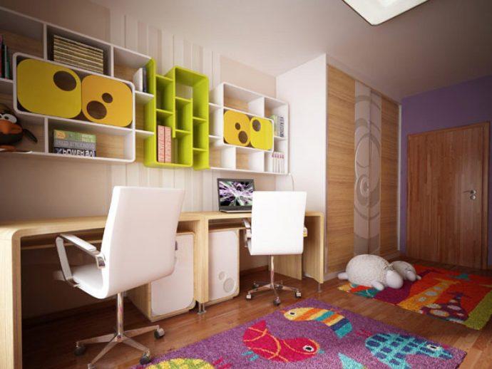 детская комната для двоих дизайн