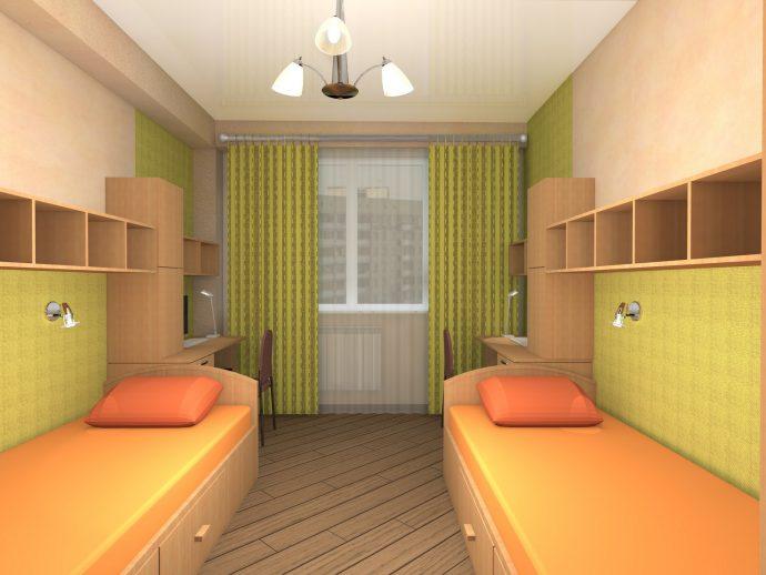 детская комната для ребенка в теплых тонах