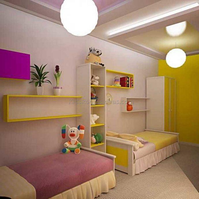 детская комната для ребенка в светлом цвете