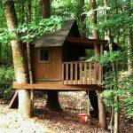 дизайн детского домика из дерева для дачи