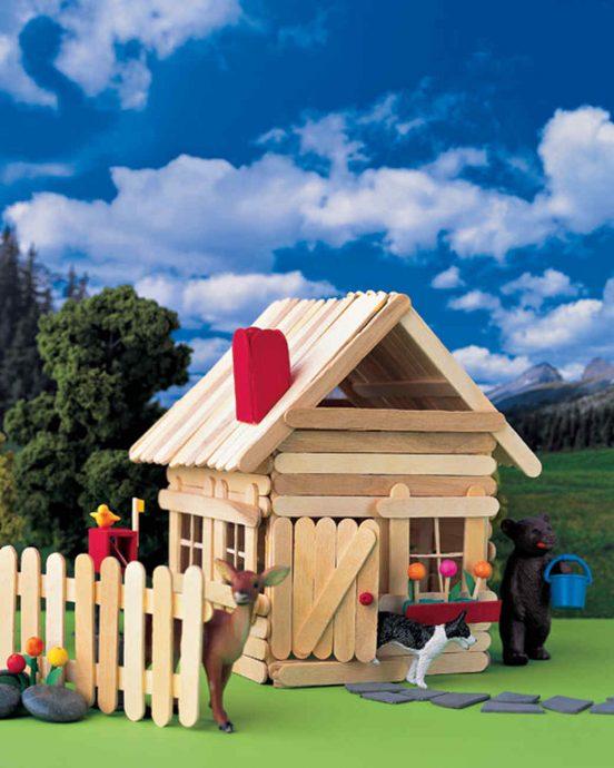 схема детского домика из массива дерева во двор