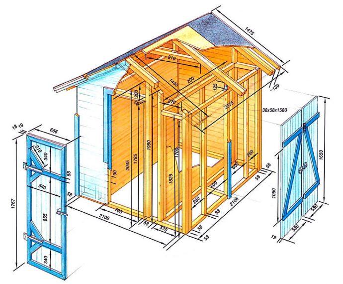 пример игрового домика из массива дерева для дома