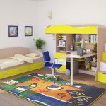 интерьер детской комнаты в светлом стиле