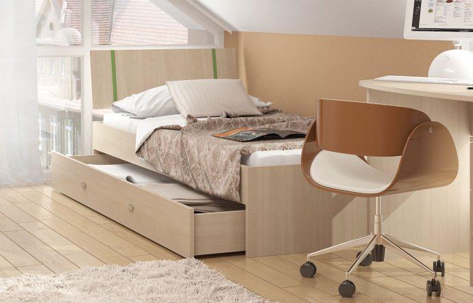 дизайн детской кроватки трансформера с выдвижным комодом