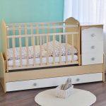 идея детской кроватки с комодом